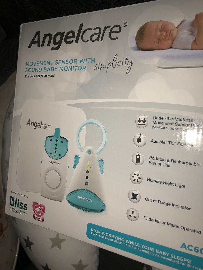 Angelcare sound & movement baby monitor AC601