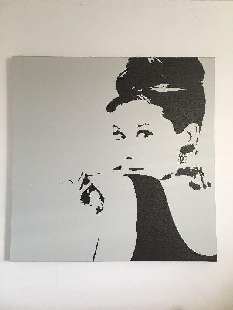 Audrey Hepburn canvas   in Wimbledon, London   Gumtree