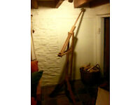 Artists Easel (beechwood) Large Radial type - used - cosmetic wear but in good working order - £25