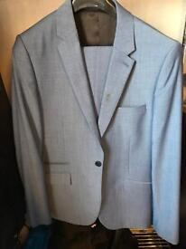 Kenneth Cole Slim Fit Teal Suit