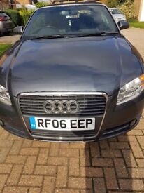 Audi a4 convertible 2 owners + me new cambelt bridstone tyres incl on spare also lady owner