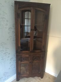 Old wooden corner display unit like old charm
