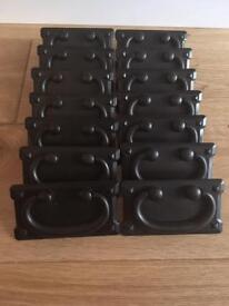 14 brand new black metal 76mm gate pull handles.