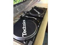 Pair of Technics SL1210 MK2 turntables