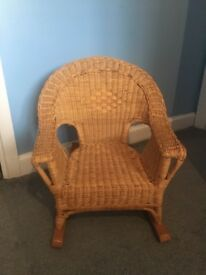 Children's Wicker Rocking Chair