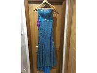 Blue sequin fishtail dress