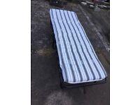 Foldaway single bed camp bed