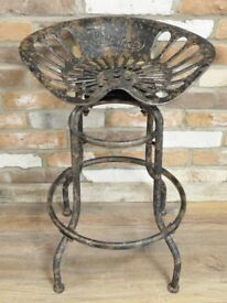 Vintage Industrial Style Swivel Tractor Seat/Stool