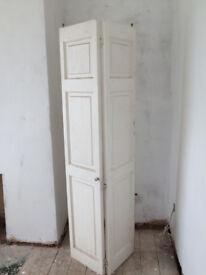 Folding bathroom compact doors white