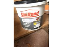 6 Brand new Unibond Grey floor tile adhesive and grout 7.5kg only £55! MUST GO!