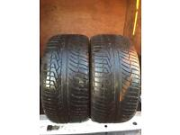 2x 295 35 21 as new 8mm Acceirea iota tyres Free fitting we come to you AUDI Q7