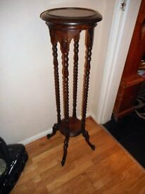 vintage tall wooden plant stand