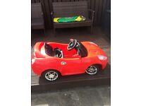 Electric red Ferrari