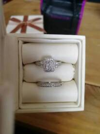 H samuel engagement ring and wedding band size n RRP 1250