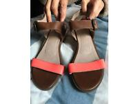 Fat face leather sandals