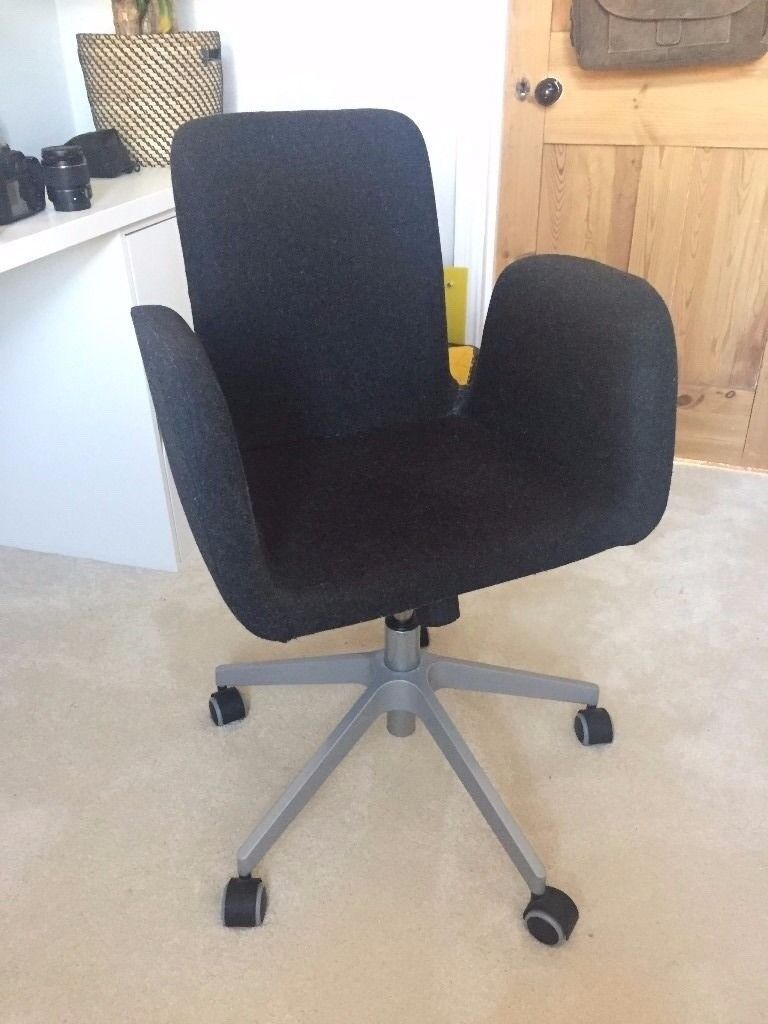 ikea swivel office chair. Ikea Patrik Swivel Office Chair Grey Wool Adjustable Discontinued London, NW10 3DN D