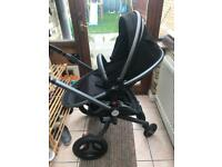 Silver cross surf 2 pram car seat bundle