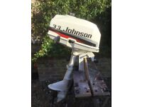 Johnson 3.3hp outboard motor for sale