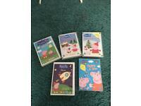 Peppa pig DVDs x5