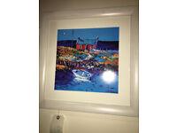 Lovely John Lowrie Morrison - JoLoMo Signed Framed Print of The Broken Gate Isle of Gigha