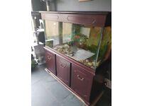 4ft fish tank and mahogany stand & top