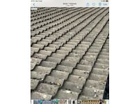 1000 concrete pan roof tiles