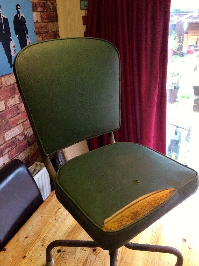 ANTIQUE INDUSTRIAL SWIVEL CHAIR - 1950'S - OTHERS AVAILABLE - CAN DELIVER