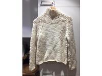 Zara cream knitted jumper size M