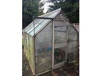 9' by 6' Aluminium frame greenhouse