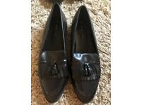 New look black leather loafers