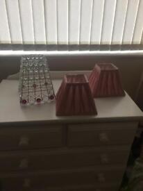 3 lamp shades