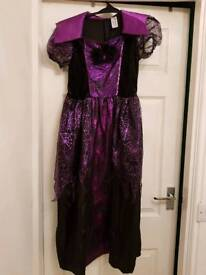 Girls Halloween witch costume 11-12 years