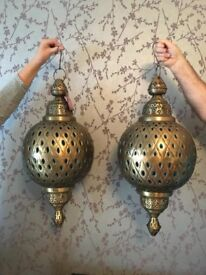 Hand Crafted Morroccan Lanterns X 2 to hold candles (Large)