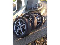 17inch wolfrace wheels 4x114.3