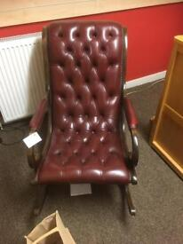 Leather chesterfield rocking chair * free furniture delivery *