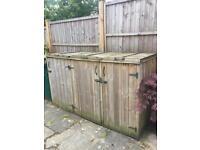 Wheelie bin sheds - free