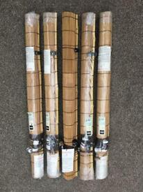 Bamboo roll-up blinds x 5