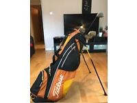 Set of Spalding Golf Clubs with Graphite Irons
