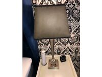 Silver and Black lamps