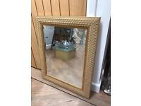Beautiful Gold Textured Mirror