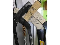 SET OF SIGNED GAME USED NEWCASTLE VIPERS ICE HOCKEY STICKS