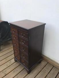 Vintage wooden stand / cupboard for record player, media player, hifi
