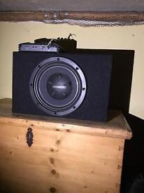Kenwood Large speaker with Alpine Amp Amplifier Powerful 250W Car stereo speaker o.n.o