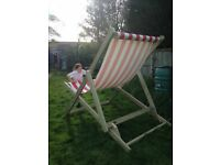 Giant Deckchair for sale. Ideal hire business, event prop, business promotion.Red and White.Quality.