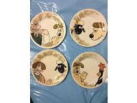 Wallace and Gromit plates