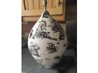 Lovely oriental lamp base and cream shade if required