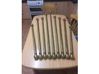 Brass curtain poles 45 ono