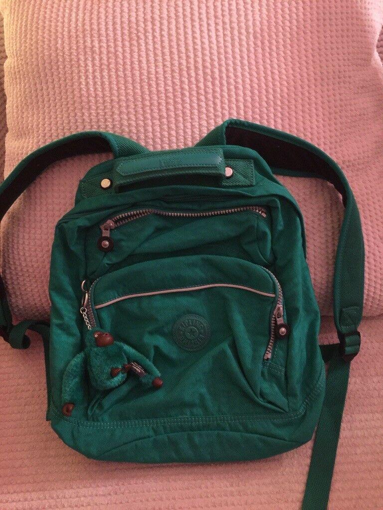 Kipling Bright Green rucksack.