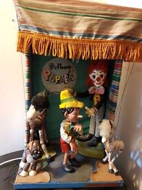 Vintage & Extremely Rare Motorised 1960's Pelham Puppet Theatre