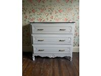 Beautiful carved wooden drawers